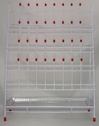 32 Place Steel Wire Upright Drying & Draining Rack