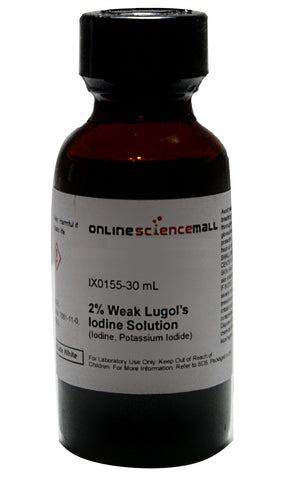 Weak Lugol's Iodine Solution 2%, 30mL - Chemical Reagent