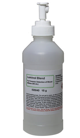 15g Luminol Powder Blend for Presumptive Forensic Detection of Blood w/Spray Bottle