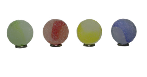 Giant Glass Frosted Rainbow Marbles 35 mm (1.3 Inch) Set of 4 by House of Marbles