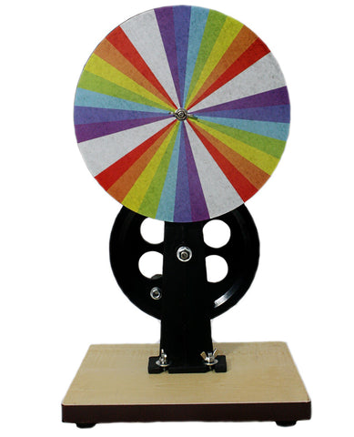 Newton's Color Disc Wheel w/Stand - Additive Color Mixing Physics Demonstration