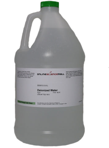 Deionized Water, 3.8 Liters - 1 Gallon of Purified Water