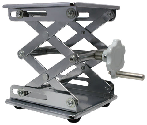 "6x6"" Adjustable Chrome-Plated Heavy Duty Steel Lab Scissor Jack"