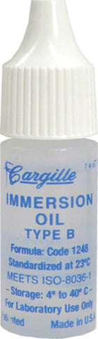 Microscope Immersion Oil Type B High Viscosity 1/4 ounce