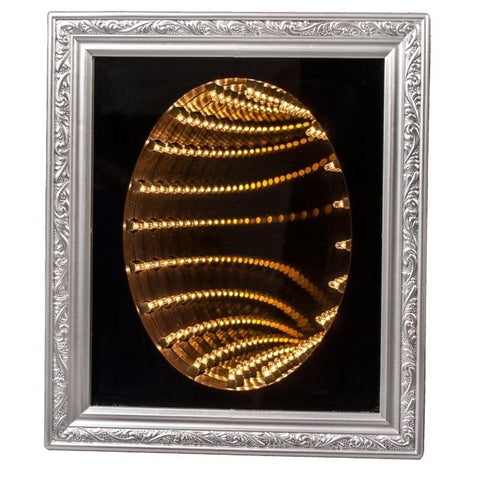 "12"" x 14"" Lighted Infinity Mirror -  Infinite Tunnel of Lights"