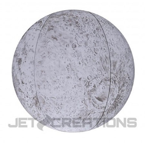 "12"" Inflatable Moon Ball w/LED Illumination - Geographically Accurate Lunar Globe - Online Science Mall"