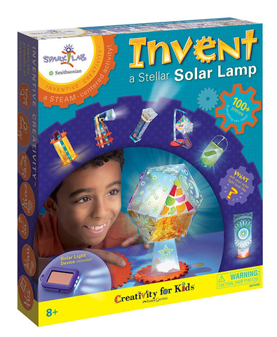 Spark Lab Smithsonian Invent a Stellar Solar Lamp Kit