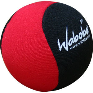 Waboba Pro Ball - 2.5 Inches -  Bounces on Water - Black/Red