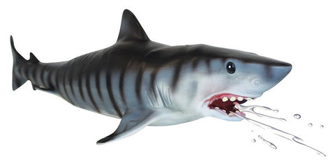 Club Earth Inflatable Lifelike Tiger Shark for Pool or Bath