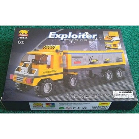 Container Truck BricTek Building Block Set - 174 Pieces