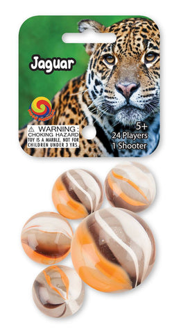 Jaguar Game Net Set 25 Piece Glass Mega Marbles