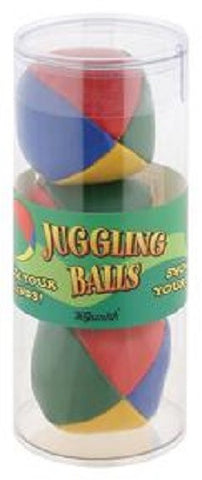Set of 3 Multi Colored Juggling Balls