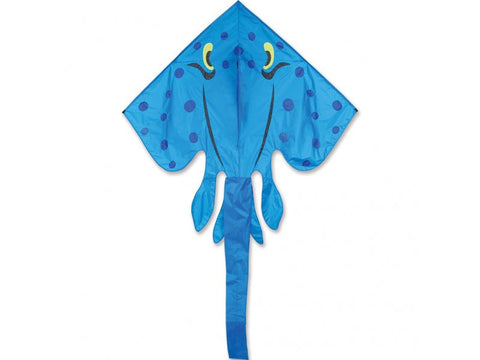 Blue Jumbo Stingray Kite 70 X 134 Inches