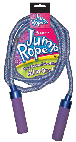 Jump Rope Adjustable with Cushioned Handles - Colors Vary