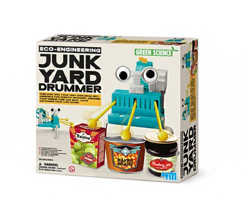 4M Eco Engineering JunkYard Drummer Green Science & Learning Kit