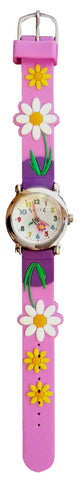 The Kids Watch Company Daisies Watch Light Purple Band