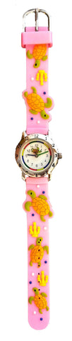 The Kids Watch Company Sea Turtle Watch Pink Band
