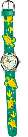 The Kids Watch Company Sea Turtle Watch Green Band