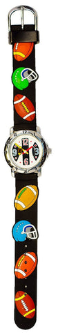 The Kids Watch Company Football Watch One Size Black Band