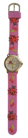 The Kids Watch Company Ladybugs Watch One Size Light Purple Band