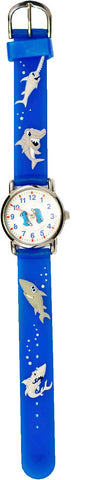 The Kids Watch Company Sharks Watch Blue Band