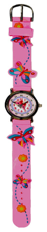 The Kids Watch Company Butterflies Watch Pink Band