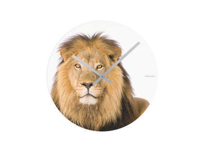 Karlsson African Savannah LION Wall Clock