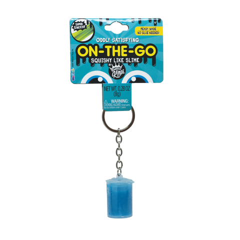 On-The-Go Squishy Slime Blue Keychain Container
