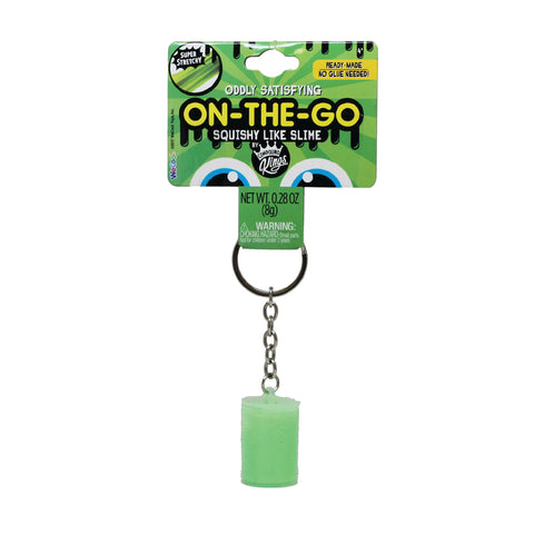 On-The-Go Squishy Slime Green Keychain Container