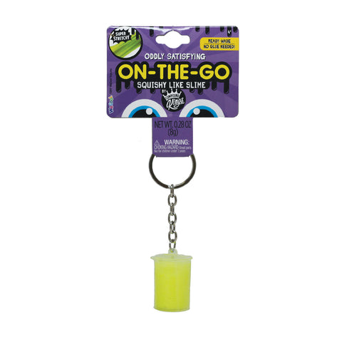 On-The-Go Squishy Slime Yellow Keychain Container