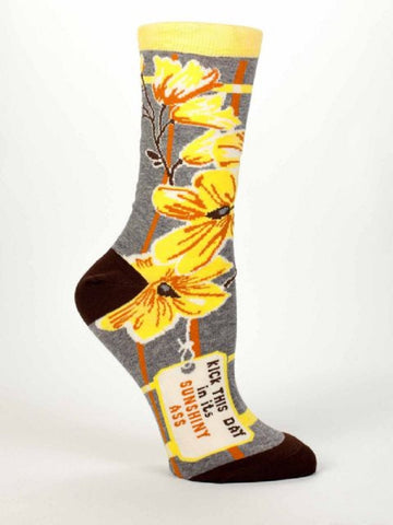 Kick This Day In Its Sunshiny A** Women's Dress Socks by Blue Q