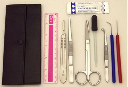 Deluxe Dissection Kit for Intermediate Student Use- Dissecting Level III