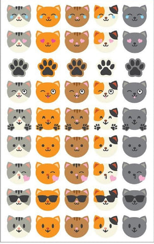 Mrs. Grossman's Stickers Cat Face Emotions Giant Roll