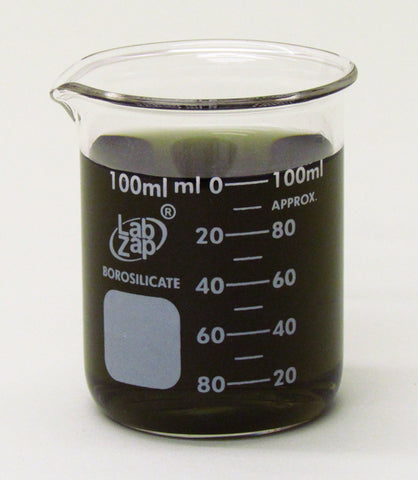 100mL Beaker, Lab Zap Borosilicate Glass Graduated Low Form, Pack of 12