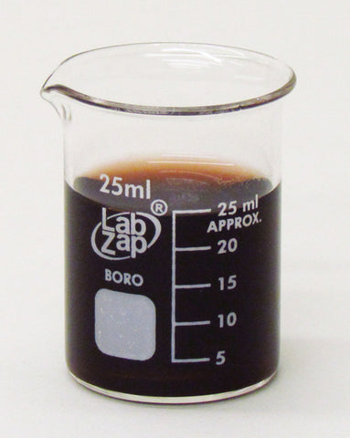 25mL Beaker, Lab Zap Borosilicate Glass Graduated Low Form, Pack of 10