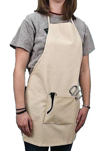 Natural Canvas Fabric Laboratory Apron: 28 x 20 Inches