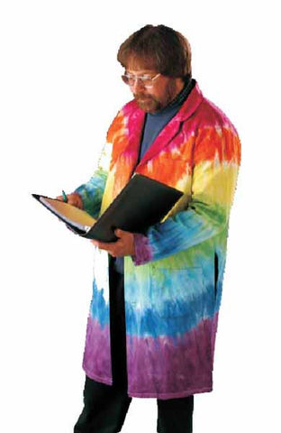 Full Length Tie Dyed Lab Coat Large Size 44 Unisex