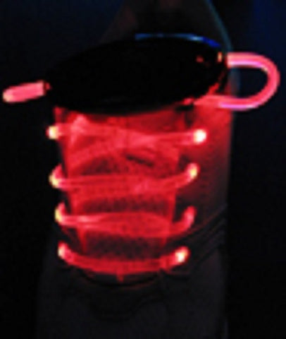 1 Pair RED Original Laser Laces Fiber Optic Neon LED Shoelaces - Online Science Mall