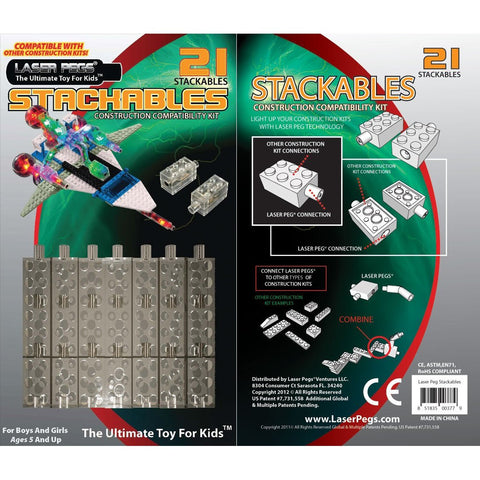 Laser Pegs Stackables - 21 Lighted Building Blocks
