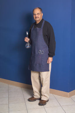 Blue Denim Fabric Laboratory Apron: 28 x 20 Inches