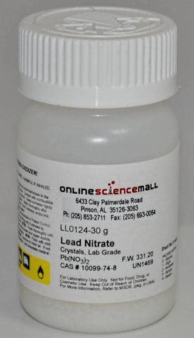 Lead II (Plumbous) Nitrate, 30g - Chemical Reagent