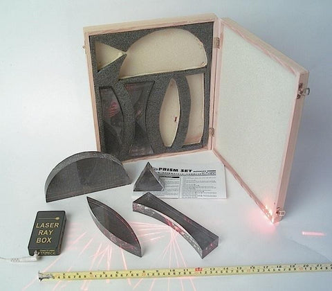Optical Demonstration Set w/ 5 Extra Large Lenses & 1 Prism