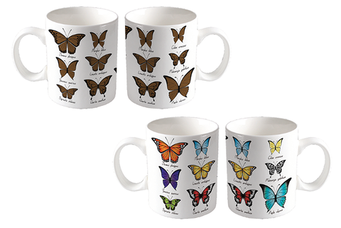 Thermochromatic Butterfly Color Changing Coffee Mug