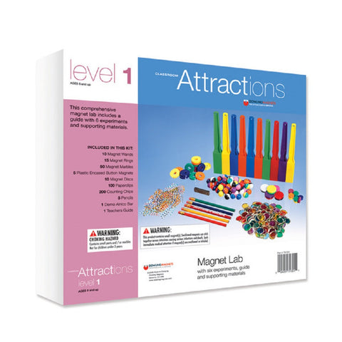 Classroom Attractions Level 1 Kit Magnetic Lab - Magnets & Teachers Guide