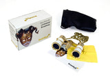 Levenhuk Broadway 325F Opera Glasses White with LED Light and Chain