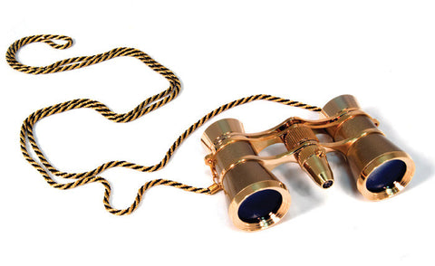 Levenhuk Broadway 325F Opera Glasses Gold with LED Light and Chain