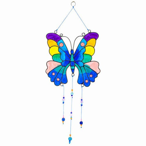 Butterfly Suncatcher; Sun Catcher w Beads