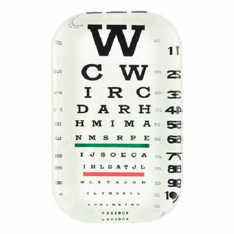 Glass Paperweight with Eye Chart Print