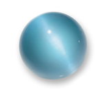 Baby Blue 40mm Cat's Eye Orb Fiber Optic Marble w Glass Stand