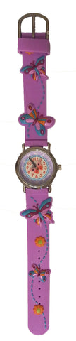 The Kids Watch Company Butterflies Watch Light Purple Band